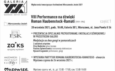 VIII Performance na dźwięki. Roman Haubenstock-Ramati (1919 – 1994)